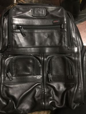 TUMI men's leather backpack for Sale in Whittier, CA