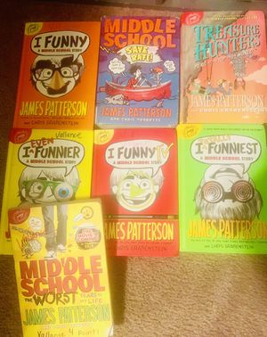 Lot of 7 James Patterson books- I Funny, Middle School for Sale in Wilmington, NC