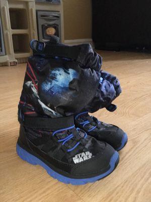 Stride-rite Star Wars snow sneaker boots - size 10 toddler for Sale in Philadelphia, PA