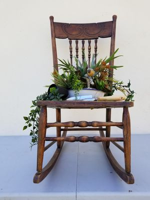 Antique chair with succulents for Sale in Las Vegas, NV