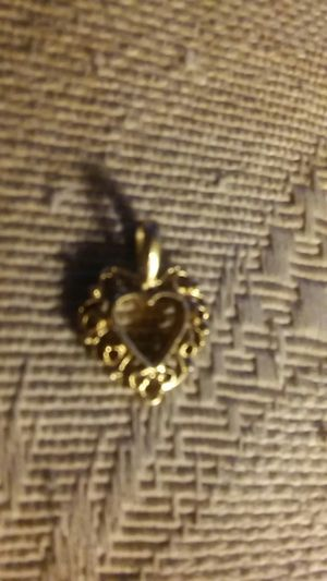 Tiny Gold Heart Pendant or Charm for Sale in Aloha, OR