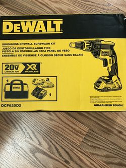 DeWalt 20-Volt MAX XR Cordless Brushless Drywall Screw Gun with (2) 20-Volt 2.0Ah Batteries & Charger for Sale in Happy Valley,  OR