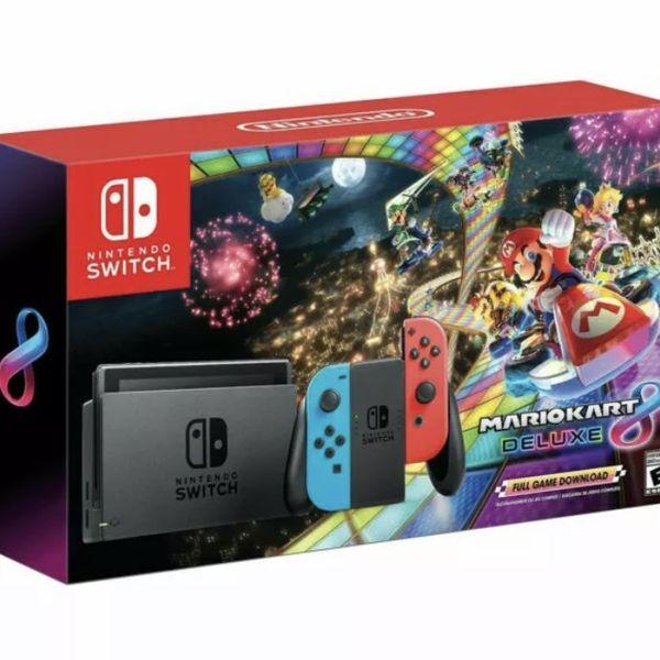 Brand New Nintendo Switch W/Mario Cart Deluxe