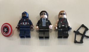 LEGO Minifigure Avengers Captain America, Agent Coulson, Hawkeye for Sale in Safety Harbor, FL