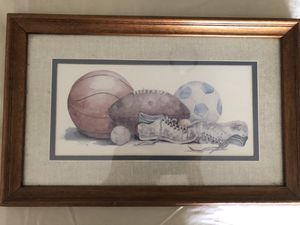 Sport picture framed for Sale in Yonkers, NY