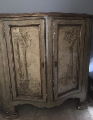 antique hand painted italian cabinet 19th century appraised for 6500 for Sale in Chicago, IL