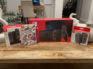 Brand New Nintendo Switch W/ 4 Controllers, Mario Party Game & Charging Dock( Full Family Bundle!) for Sale in Sun City, AZ