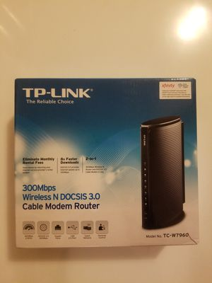 TP-Link TC-W7960 DOCSIS3.0 300Mbps Wireless WiFi Cable Modem Router for Comcast XFINITY, Time Warner Cable, Cox Communications, Charter, Spectrum for Sale in Union, NJ