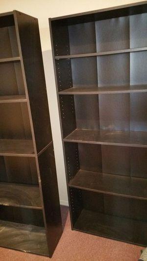 6ft×2.5in black bookshelves for Sale in San Jose, CA