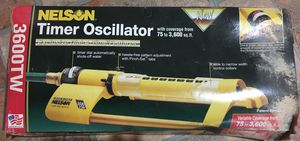 Nelson Automatic Timer Oscillating Lawn Sprinkler for Sale in Ellenwood, GA