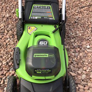 Greenworks Pro Self-propelled 21in Electric Lawnmower for Sale in Las Vegas, NV