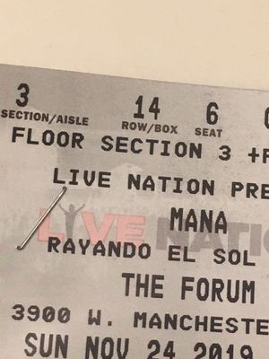 2 Mana Tickets for Sale in Fontana, CA