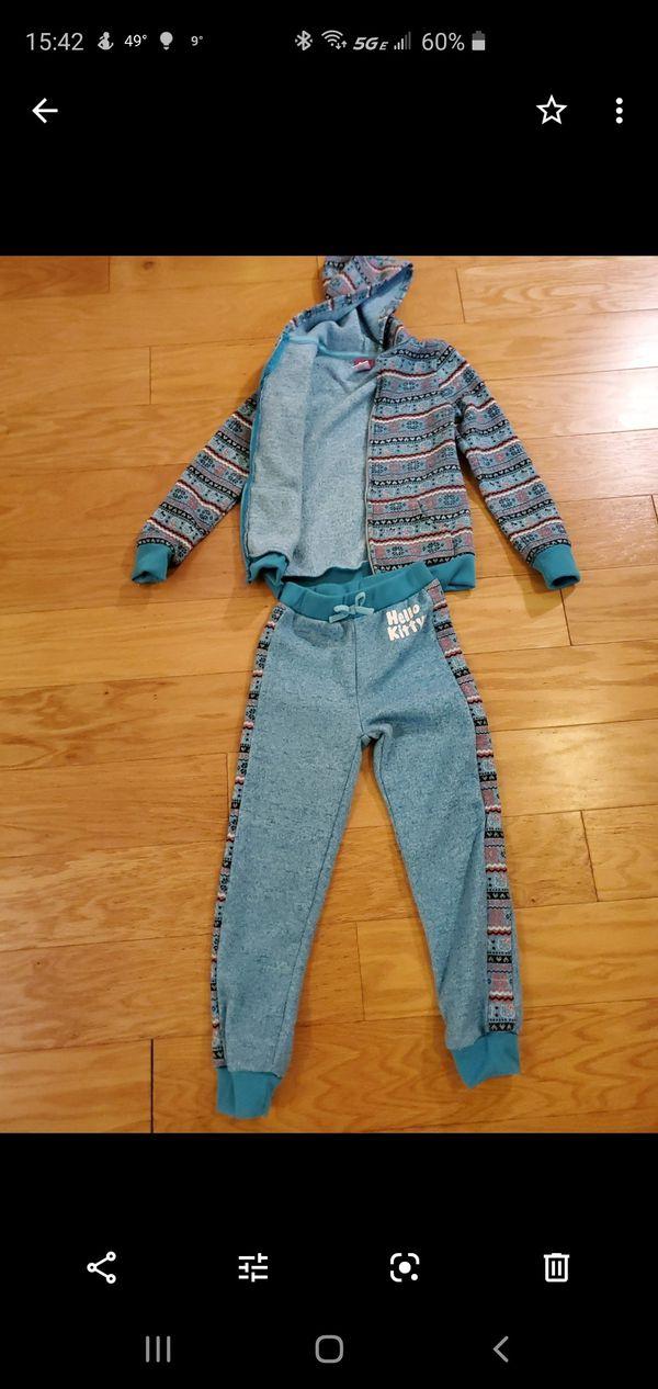 Hello Kitty set of pants and jacket size 8