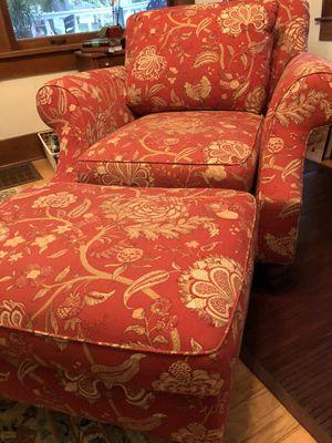 Martha Stewart Signature Club Chair & Ottoman for Sale in Wichita, KS