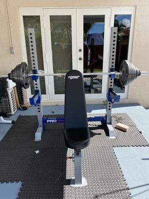 🔥Brand New🔥 300LBS Set With 🤩Fitness Gear Olympic Bench🔥 for Sale in Miami, FL