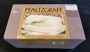 Pfaltzgraff Garden Party Covered Butter Dish ~ New in Box for Sale in BETHEL, WA