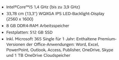 "Apple MacBook Pro 13.3"" 2020 MWP52D/A Core ™ i5-1038NG7 16 GB RAM"