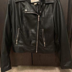Black Michael Kors Moto Jacket - Size Medium for Sale in McLoud, OK