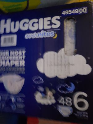 Huggies diapers size 6 overnights for Sale in Phoenix, AZ