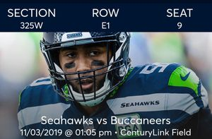 Seahawks Buccaneers tickets for Sale in Tacoma, WA