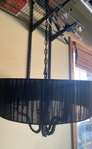 Beautiful Round black fabric chandelier for Sale in Fairfax Station, VA