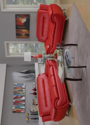 👉 ♥️$39 down payment🎈- 🔳 Enna Red Sofa & Loveseat | U2703 for Sale in West Laurel, MD