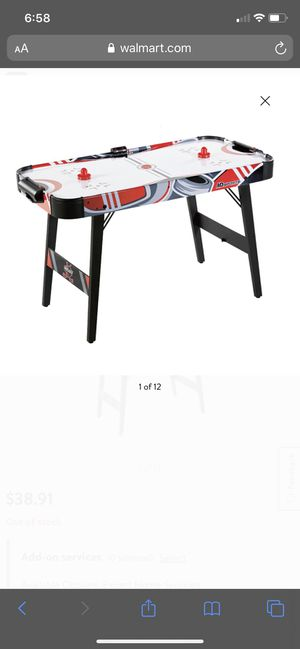 G MD Sports Easy Assembly 48 Inch Air Powered Hockey Table, Space-Saving Design, Foldable Legs Brand new in box for Sale in Lake Elsinore, CA