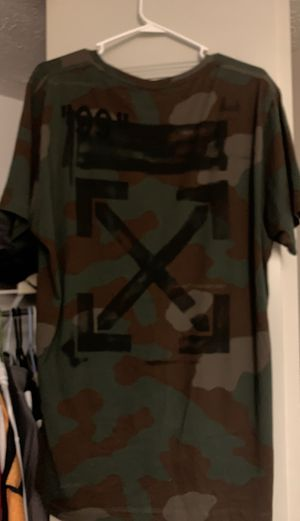 off-white camo shirt for Sale in Imperial, PA