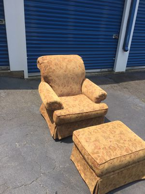 Sofa Chair with Ottoman for Sale in Atlanta, GA