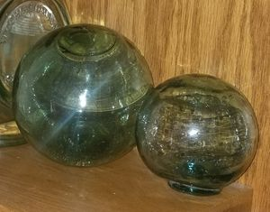 Two Antique Glass Ball Floats for Sale in Westport, WA