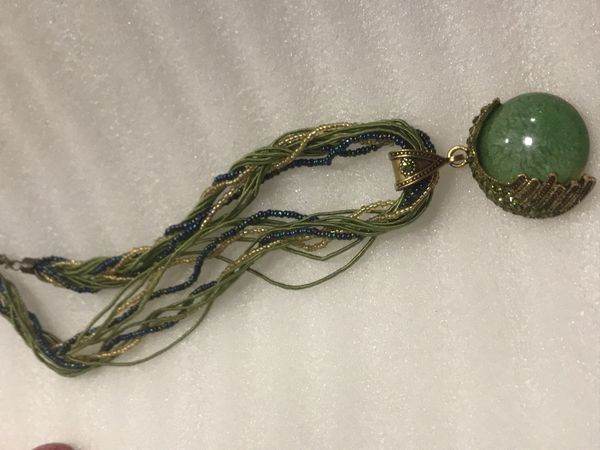 Beautiful green necklace