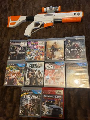 Playstation 3 games and rifle controller for Sale in Butte, MT