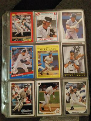 5 pages of don mattingly baseball cards for Sale in Seattle, WA