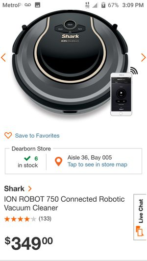 Ion Robot Vacuum Cleaner for Sale in Cleveland, OH
