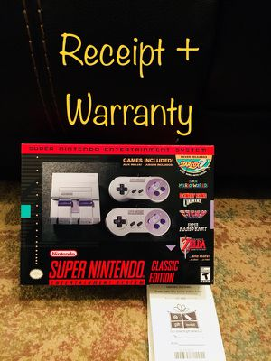 Brand new in box - Super Nintendo SNES Classic edition + warranty + receipt for Sale in Canton, MI