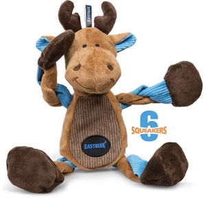 Reindeer Dog Squeaky Toys: Cute Plush Stuffed Puppy Chew Toy with 6 Squeaker for Small | Medium Breed for Sale in Los Angeles, CA