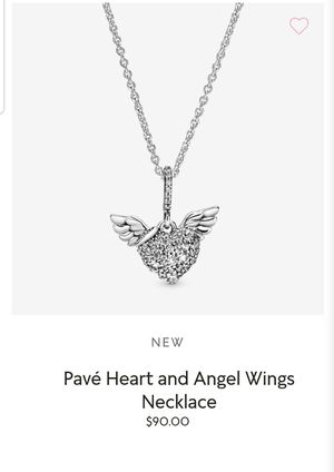 Pandora pave heart & angel wings necklace for Sale in HOFFMAN EST, IL