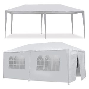 10'x20' White Outdoor Gazebo Canopy Wedding Party Tent 6 Removable Window Walls SHIPPING ONLY for Sale in Fremont, CA