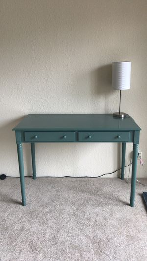 2 drawer writing desk - Agate green/teal for Sale in San Francisco, CA