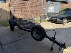 8 X 4 Home Made Trailer with Ramp for Sale in Humble, TX