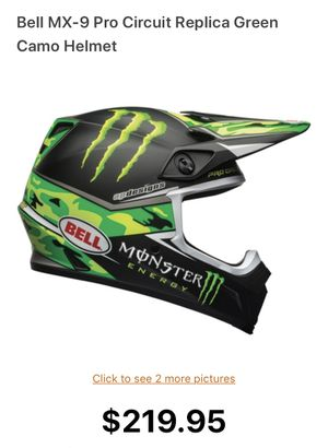 Bell MX-9 Pro Circuit Replica Green Camo Helmet for Sale in Upland, CA