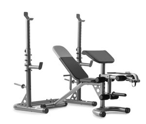 Weider XRS 20 Adjustable Olympic Workout Bench with Independent Squat Rack and Preacher Pad for Sale in Vernon, CT