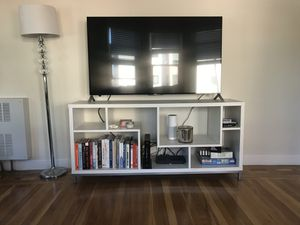 White TV stand w/ Built-in shelves! for Sale in San Francisco, CA