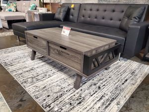 Melody Coffee Table, Distressed Grey and Black for Sale in Norwalk, CA
