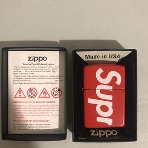 Brand New Supreme Logo Zippo Lighter for Sale in Massapequa, NY