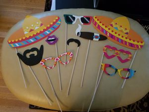 23 Fiesta photo booth props for Sale in Seattle, WA