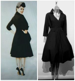 PIN Up Winter Sleeved Collared Full Swing Dress for Sale in Whittier, CA