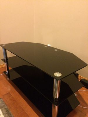 Black Glass TV Stand for Sale in Seattle, WA