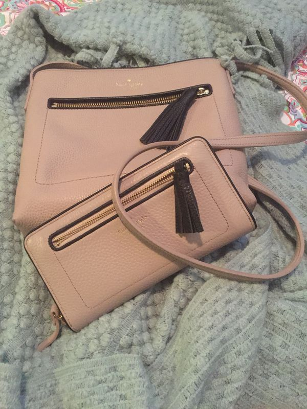 Kate Spade shoulder purse and matching wallet.