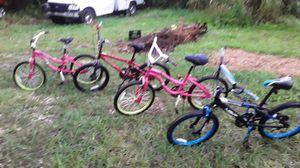 Kids bicycles, 2 girl bikes, 2 boy bikes, for Sale in Homestead, FL